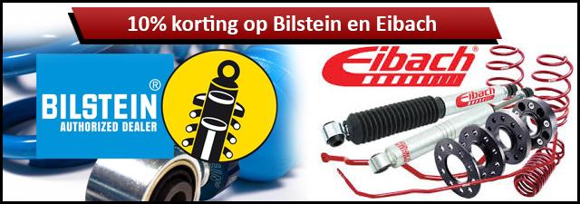 Bilstein en Eibach met 10% korting!
